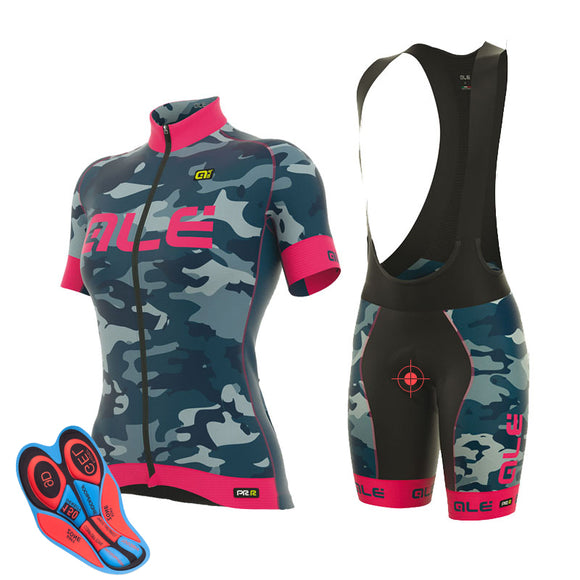 Camo Women Cycling pro. Racing, Quick Dry, Anti-sweat fabric.