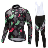 Cycling Race Set. Winter Warm Thermal.