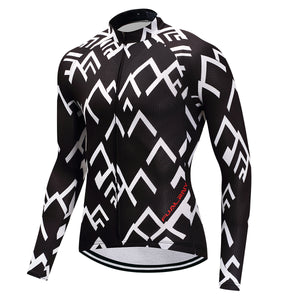 Winter Long Sleeve Bike Jersey. Thermal Fleece MTB Bicycle racing