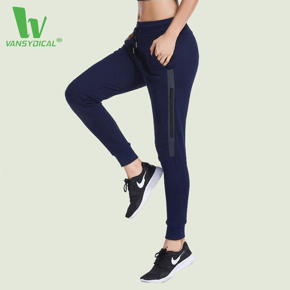 Running Pants Women. Fitness Jogging Trouser Elastic Waist. Dry cotton