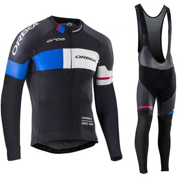 NEW Winter Pro Team ORBEA Cycling Clothing. Long Sleeves Thermal Fleece