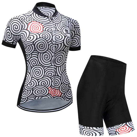 Cycling pro jersey and shorts for women