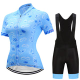 Women Cycling Jersey + shorts Set. Summer Pro Team MTB Road Bike racing.