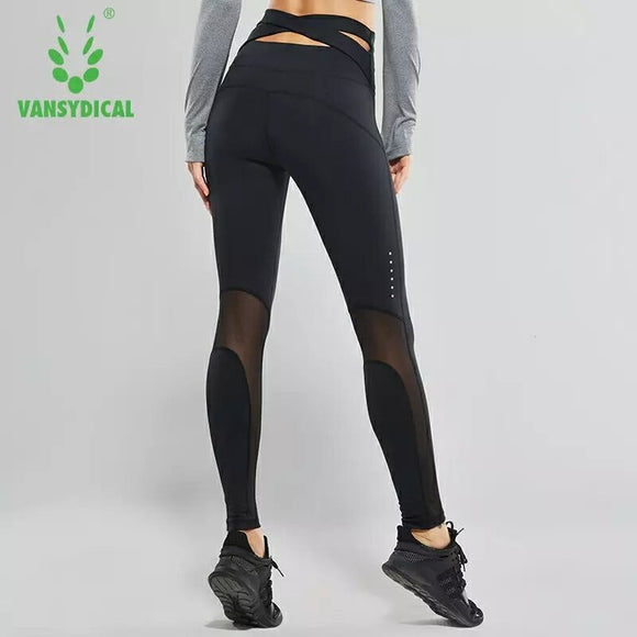 High-waist Fitness tights. Sports Leggings/Cross Belt Running Tights.