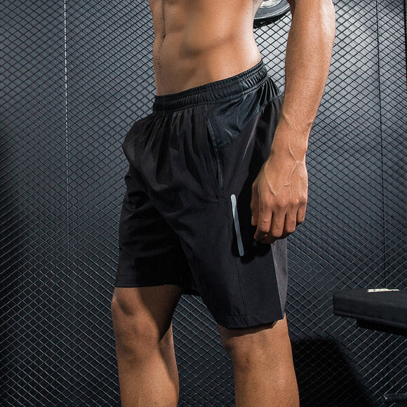 Pro Running reflective Shorts. Training Workout fitness GYM Quick Dry breathable.
