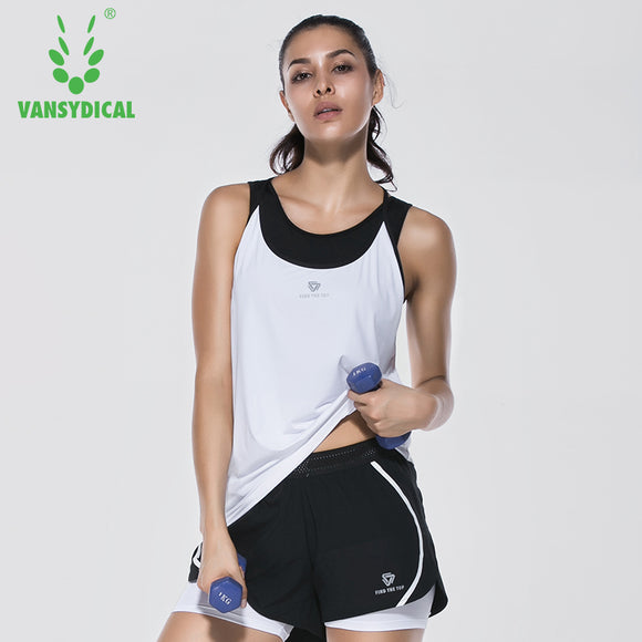 Women's fitness Tank. Sleeveless Loose Quick Drying Elastic fabric.
