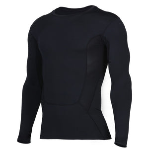Long sleeve compression shirt for workout. Quick dry and soft feel. Super elasticity