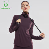 Sports shirt women autumn winter long sleeve. Quick drying, flex fabric.