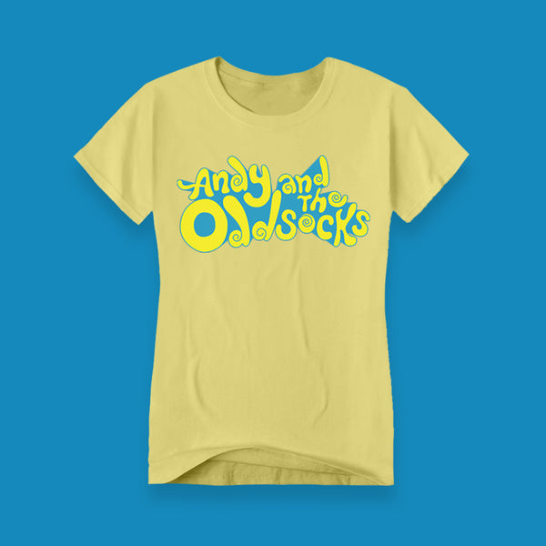 LADIES ADULT YELLOW BAND LOGO TEE