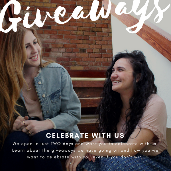 Celebrate with us! Giveaways galore!
