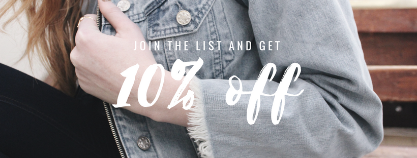 10% off when you join the email list