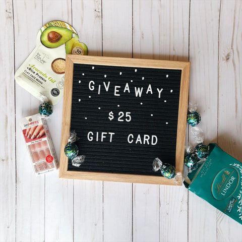 Giveaway - $25 gift card