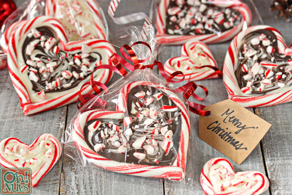 Candy Cane Hearts Peppermint Bark