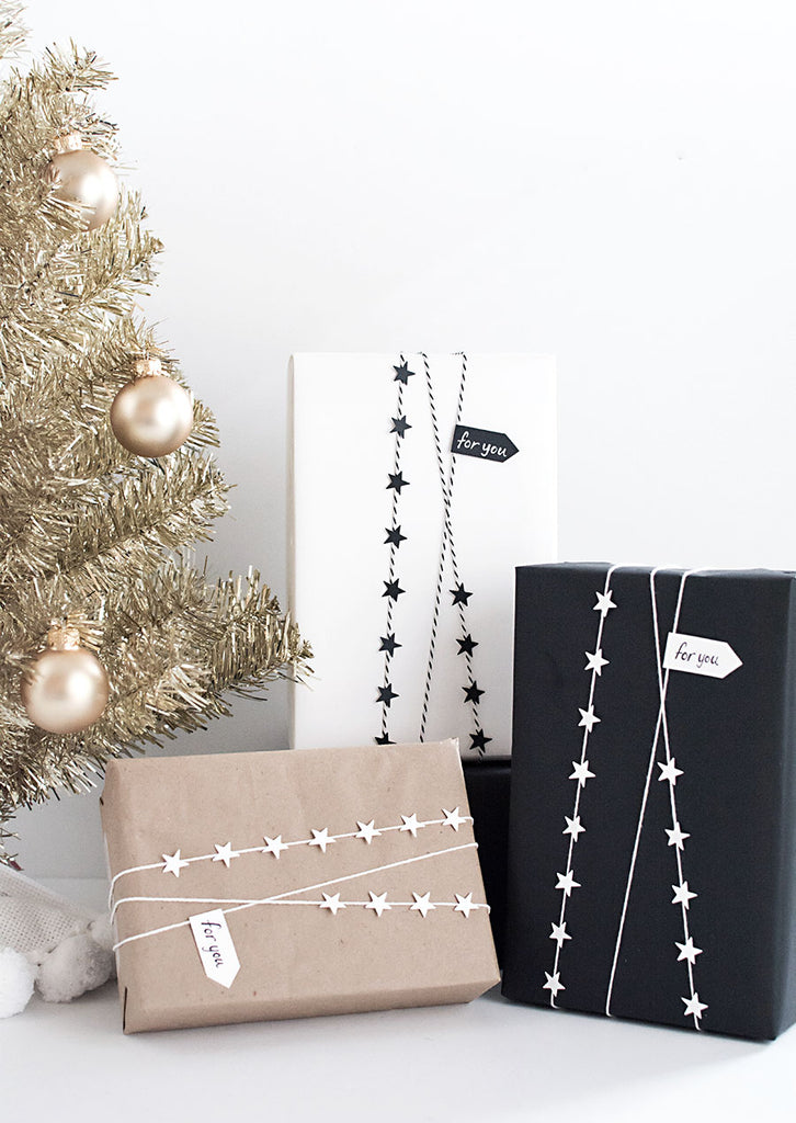 DIY Star Garland for Gift Wrap