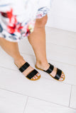 Double Time Black Sandals