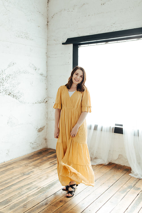 The Amelia Dress - Dreamy Yellow Maxi Dress