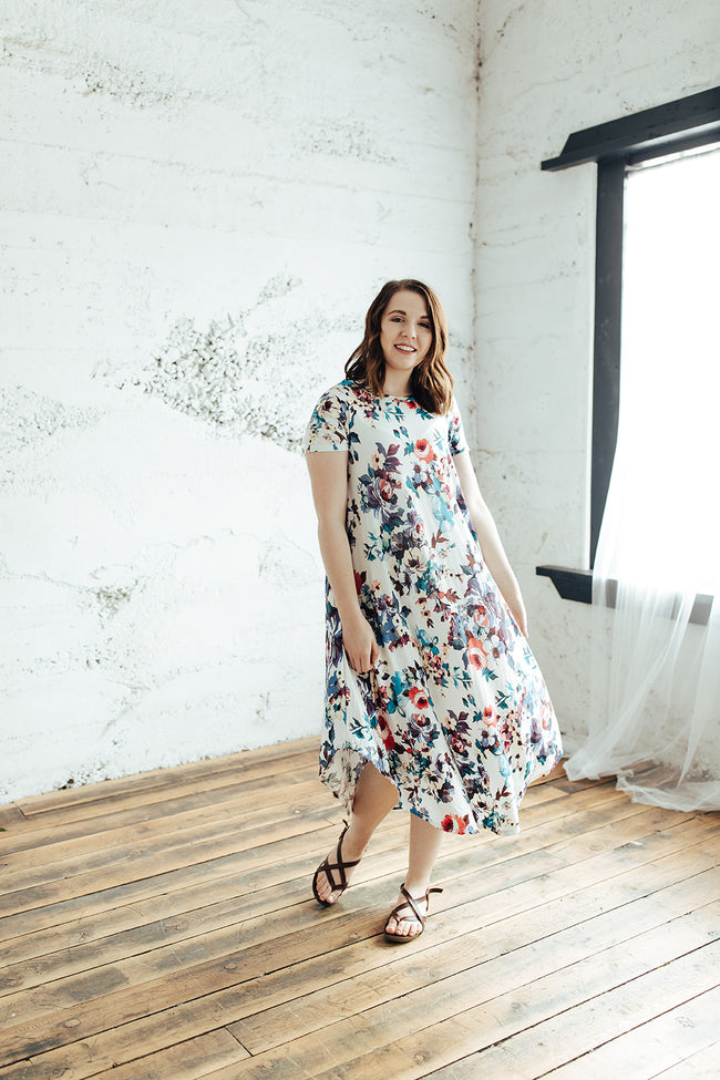 The Harper Dress - Floral Shift Swing Dress