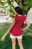 Polka-Dot Paradise Blouse in Red