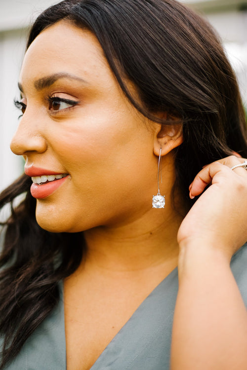 Crystal Drop Earrings In Diamond - 12/19/2019