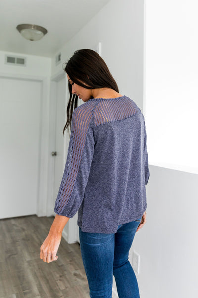 Feel The Breeze Tassel Tie Top