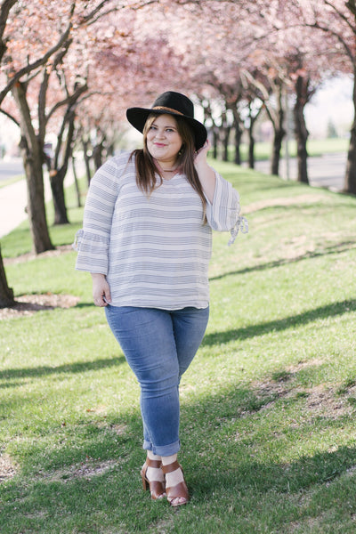 Curvy: Kristina Striped Blouse