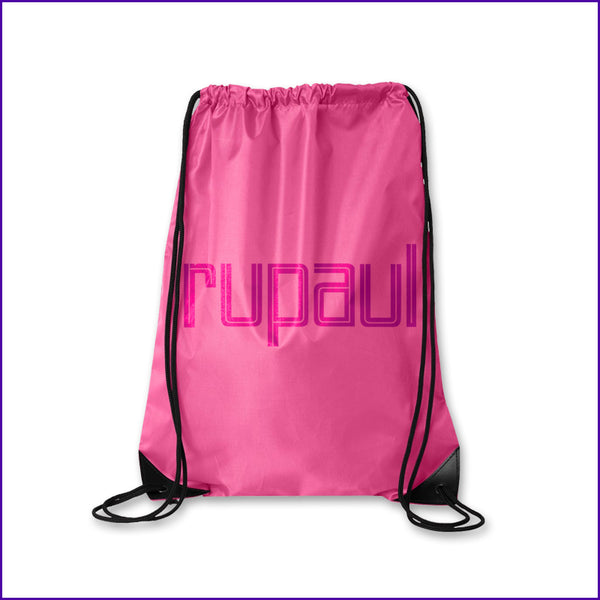RuPaul logo cinch bag