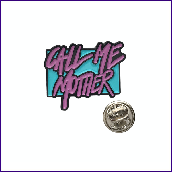 RuPaul call me mother pink logo enamel pin