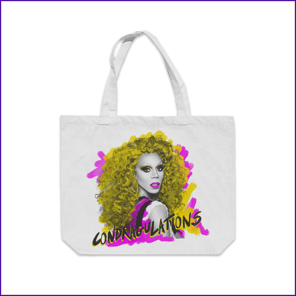 condragulations RuPaul portrait tote bag