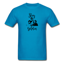 Stay Golden Tee - turquoise