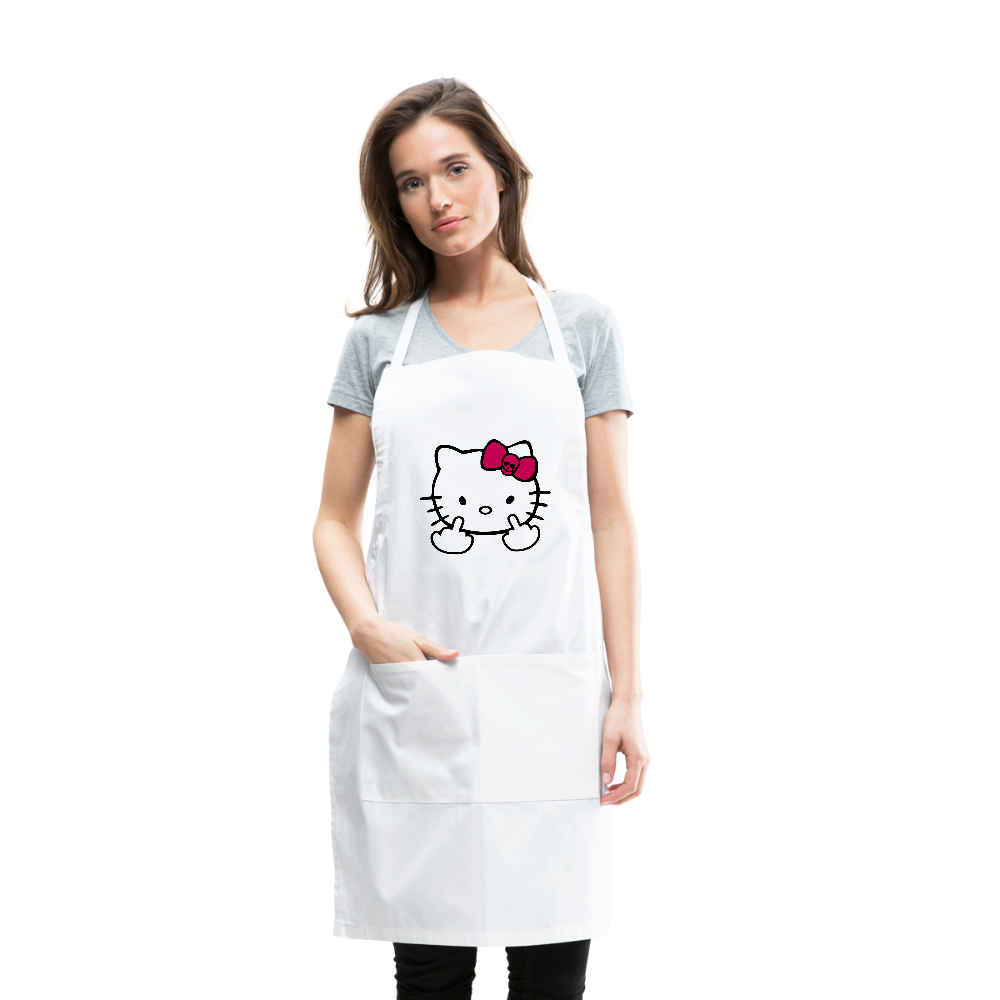 Hello Kitty Middle Finger Adjustable Apron - white