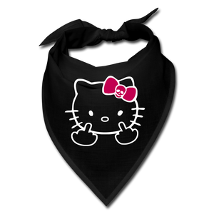 Hello Kitty Fuck You Middle Finger Bandana - black