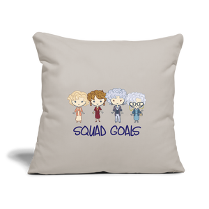 Squad Goals Golden Girls Pillow - light grey