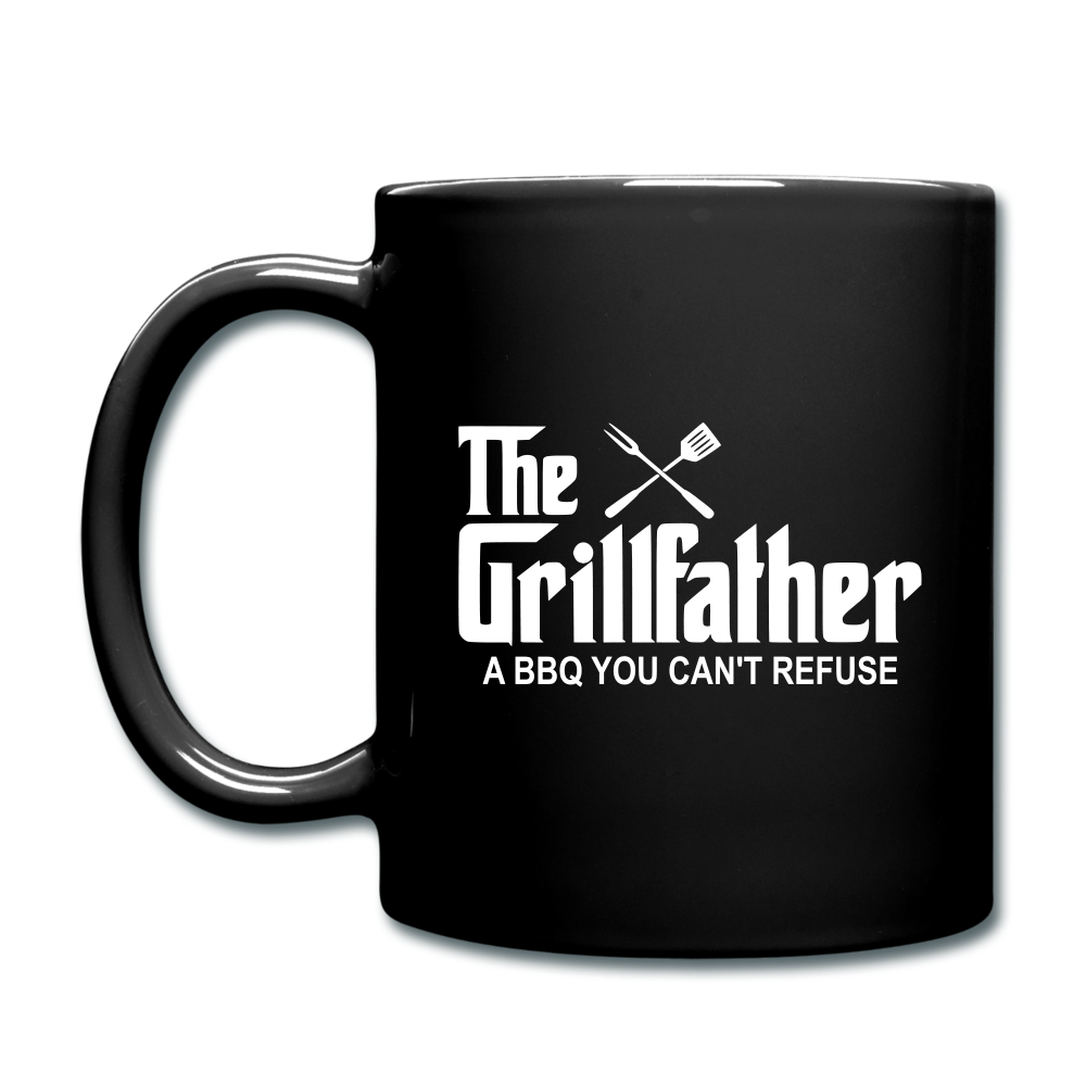The Grill Father A BBQ You Can't Refuse Coffee Mug - black