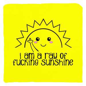 I am a Ray of Fucking Sunshine Pillow