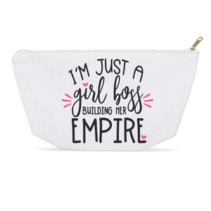 I'm Just a Girl Boss Building Her Empire Dopp Kit Cosmetic Bag