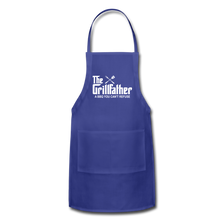 The Grill Father a BBQ You Can't Refuse Apron - royal blue
