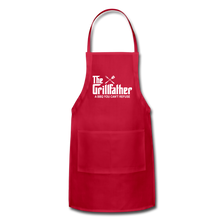 The Grill Father a BBQ You Can't Refuse Apron - red