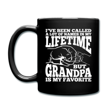 I've Been Called a lot of Names in my Lifetime Grandpa Coffee Mug - black