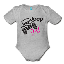 Jeep Girl Organic Short Sleeve Baby Bodysuit - heather gray