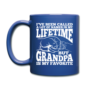 I've Been Called a lot of Names in my Lifetime Grandpa Coffee Mug - royal blue