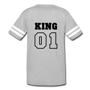 King 01 Vintage Sport T-Shirt - heather gray/white