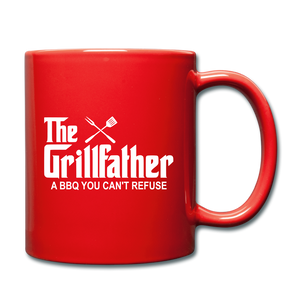 The Grill Father A BBQ You Can't Refuse Coffee Mug - red