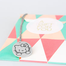 Kitty Middle Finger Engraved Pendant Necklace