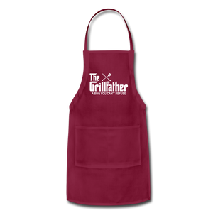 The Grill Father a BBQ You Can't Refuse Apron - burgundy