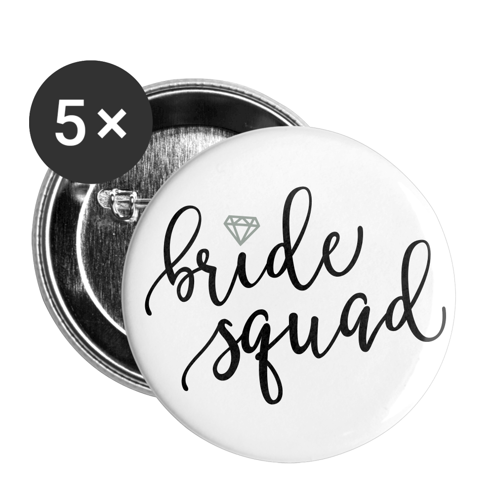 Bride Squad Buttons small 1'' (5-pack) - white