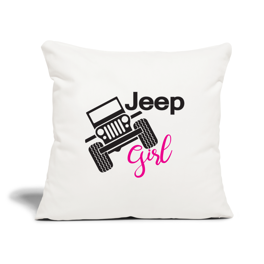 Jeep Girl Pillow - natural white