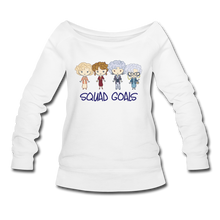 Squad Goals Wideneck Sweatshirt - white