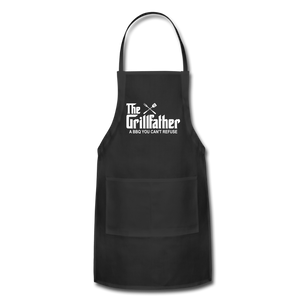 The Grill Father a BBQ You Can't Refuse Apron - black