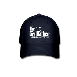The Grill Father A BBQ You Cant Refuse Baseball Cap - navy