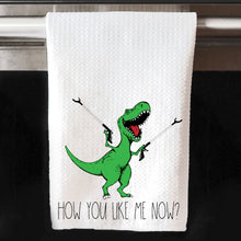 How You Like Me Now Dinosaur Reacher Grabber Waffle Towel